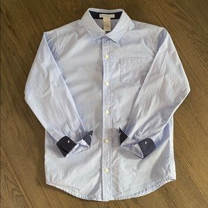 JANIE and JACK Heathered Blue Cotton Dress Shirt